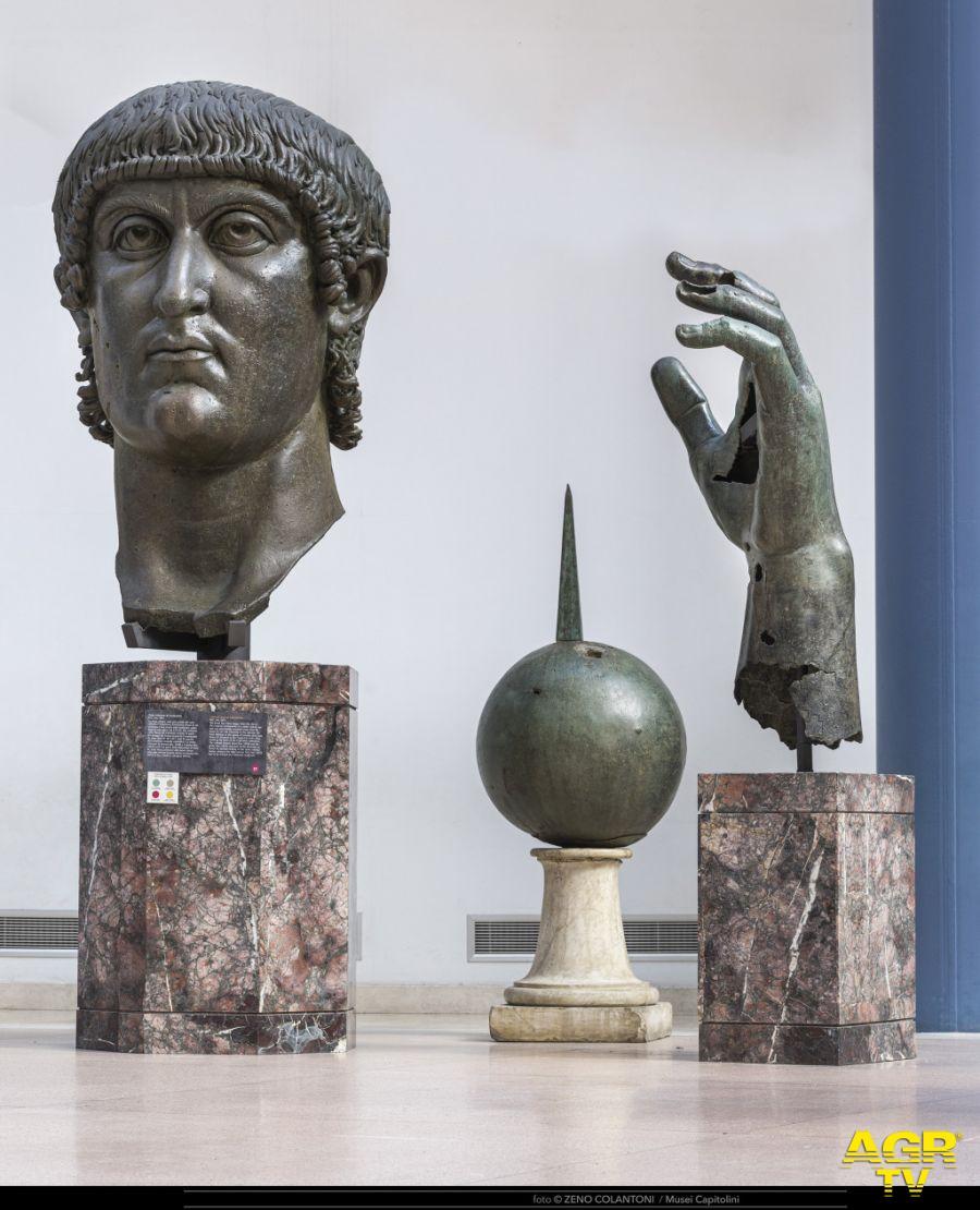 Campidoglio, ricomposta la mano del Colosso di Costantino