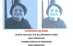 DI GREGORI  ANNA di anni 77 si allontana da Roma zona Tor tre Teste
