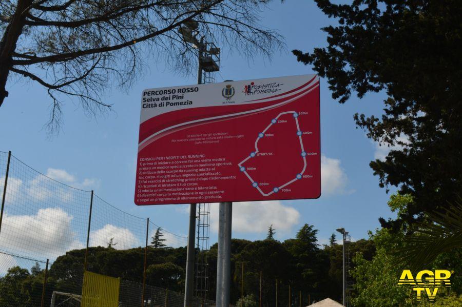 nuovo percorso podistico Selva dei Pini Pomezia