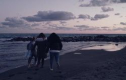 Una scena del film Punta Sacra