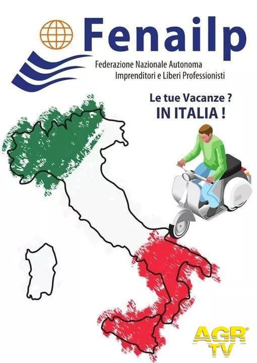 vacanze in Italia manifesto Fenailp