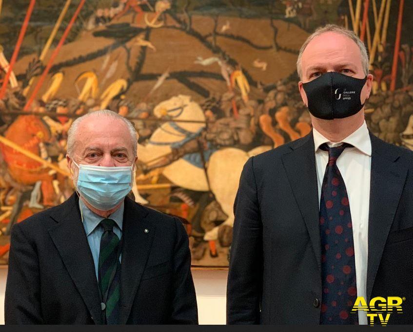 Musei Statali La Serie A agli Uffizi  Aurelio De Laurentiis ed Eike Schmidt