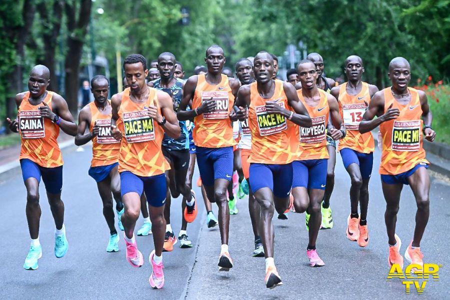 partenza Milano Marathon