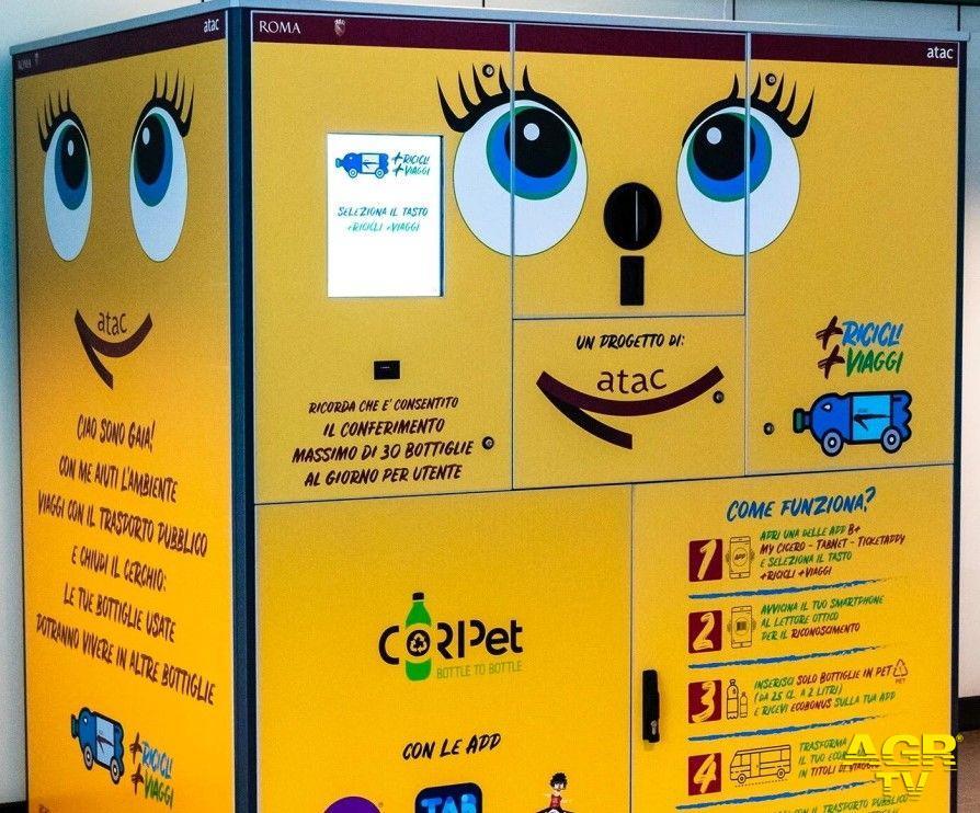 Avanzano le macchinette mangiaplastica, nuove installazioni in IV ed VIII Municipio