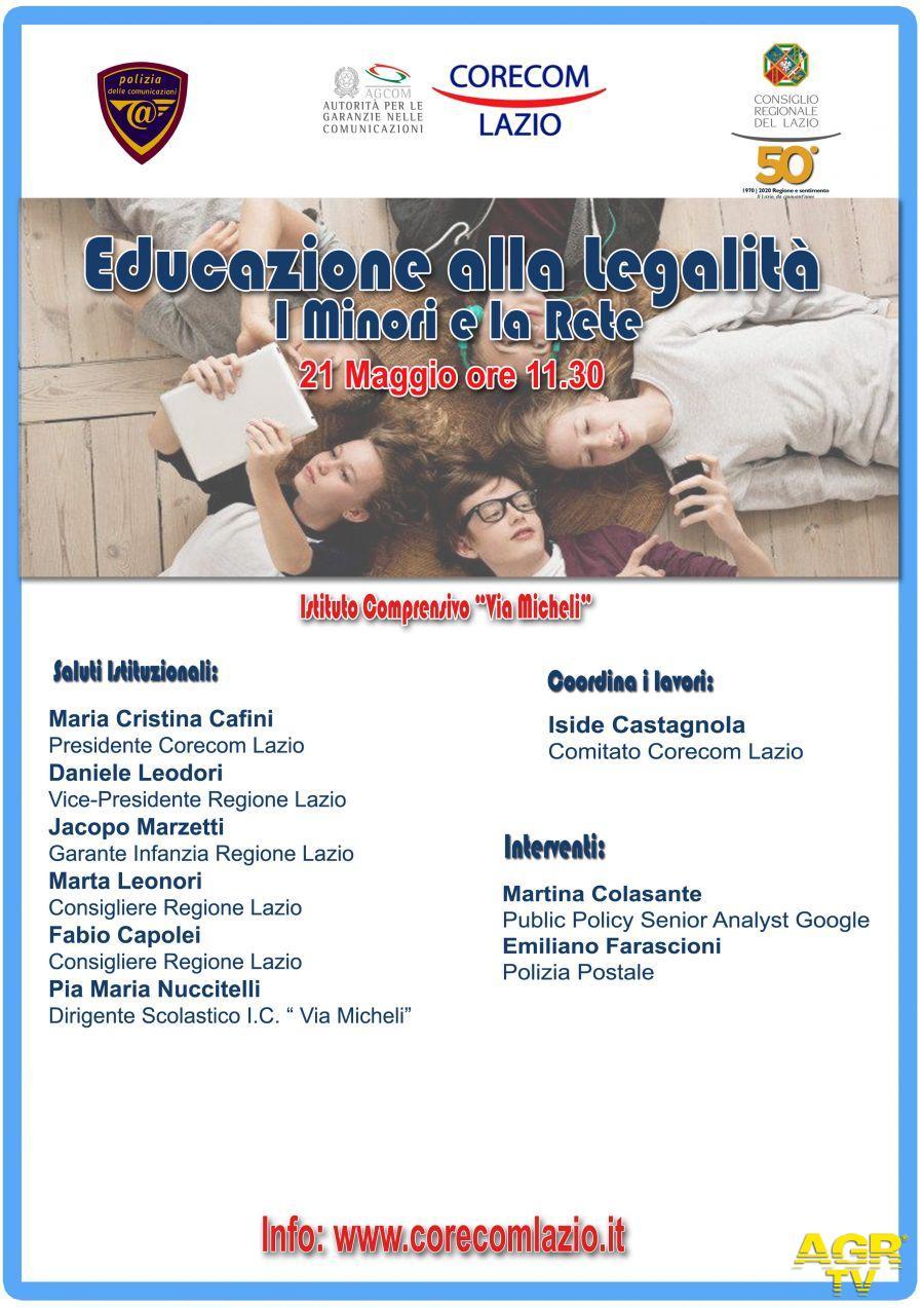 Bullismo a Roma, Corecom Lazio, si può prevenire con attività di media education