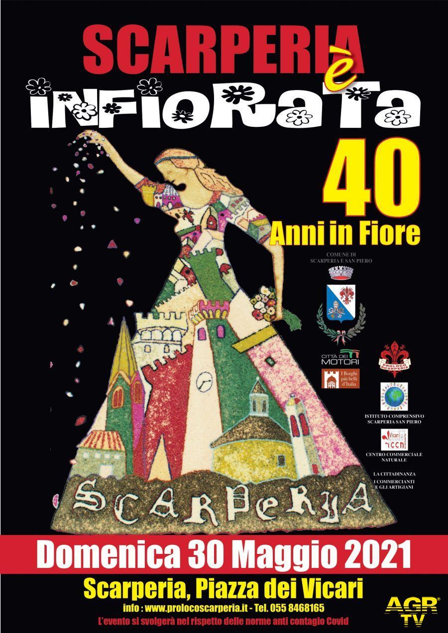 Non-profit in provincia di Firenze Scarperia. 40A Infiorata: 40 anni in Fiore