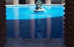 particolare della bellissima fontana dell'ufficio centrale di ostia