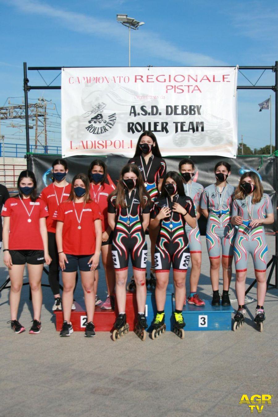 Fiumicino, rotelle d'oro con la Debby team ai regionali