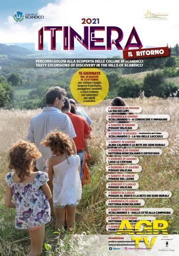 """Comune di Scandicci Dal 30.5 al 31.10 torna Itinera, 15 giornate per i """"percorsi golosi"""" alla scoperta delle colline di Scandicci"""