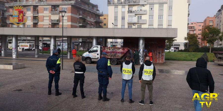 Polizia&Vigili urbani, stop al degrado nel III Municipio