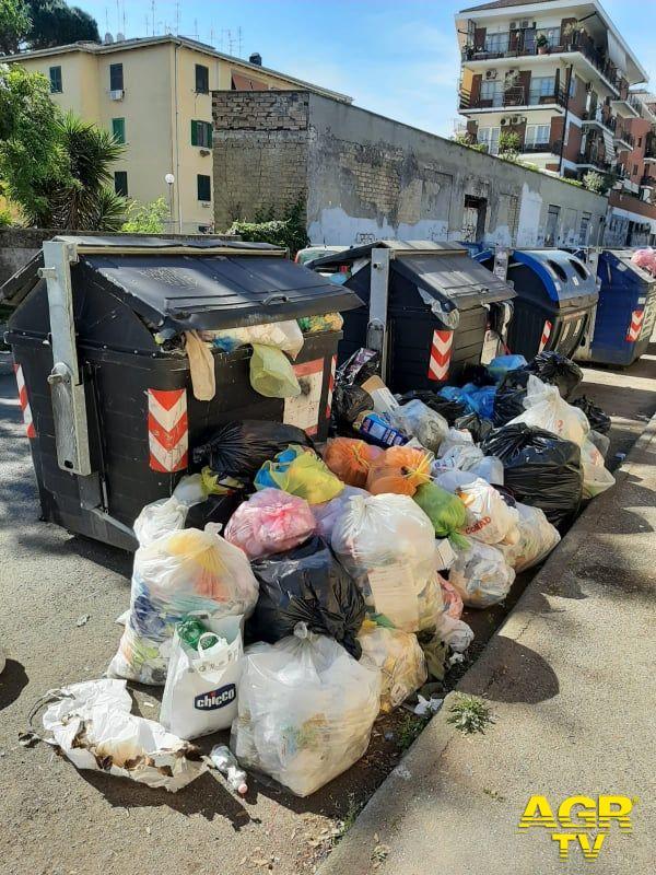 rifiuti nel V Municipio