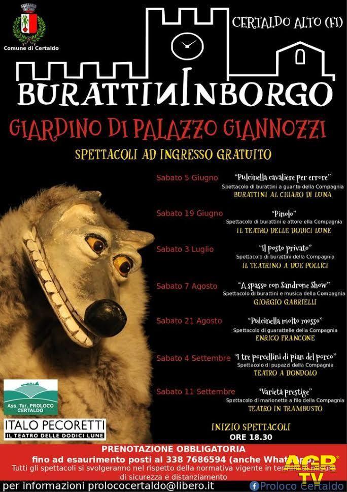 Comune di Certaldo Certaldo. Burattininborgo, storie e marionette da tutta Italia nel giardino di Palazzo Giannozzi