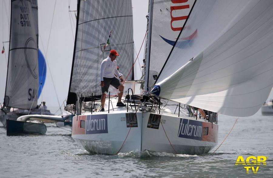 Lo yacht Fulcrum in testa