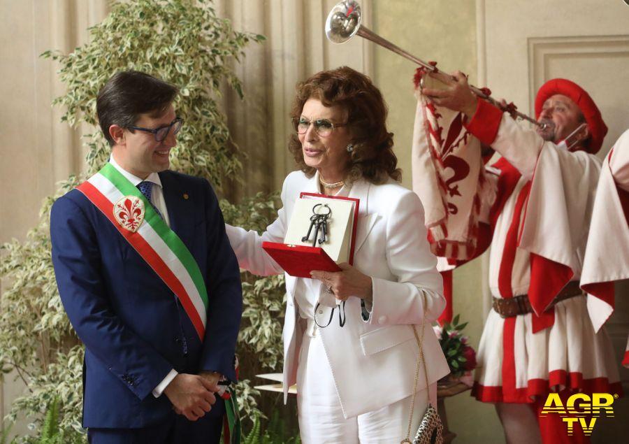 Comune di Firenze Chiavi della Città a Sophia Loren