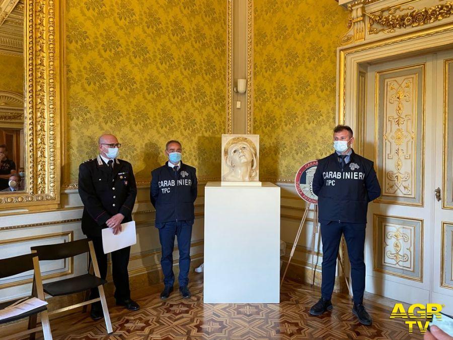 """Consegnato al Museo G.Fattori il busto di Adolfo Wildt """"Santa Lucia"""""""
