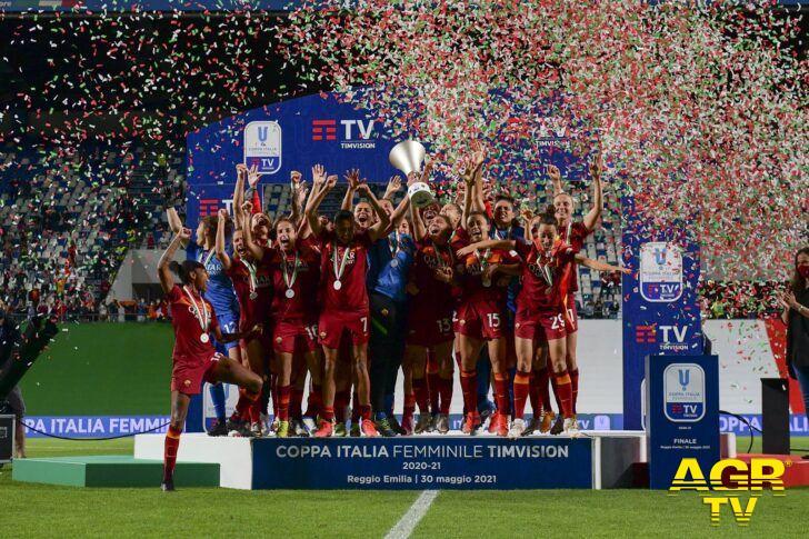 La Roma femminile conquista la Coppa Italia per la prima volta