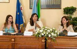 sx Diana Marsanich, Caterina Balivo, Francesca Santoro