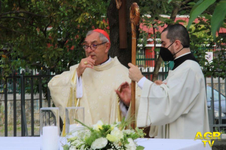 benedizione nuova cappella chiesa Bonaventura Torre Spaccata
