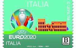 Europei di calcio 2020, da oggi  sono celebrati anche con un francobollo