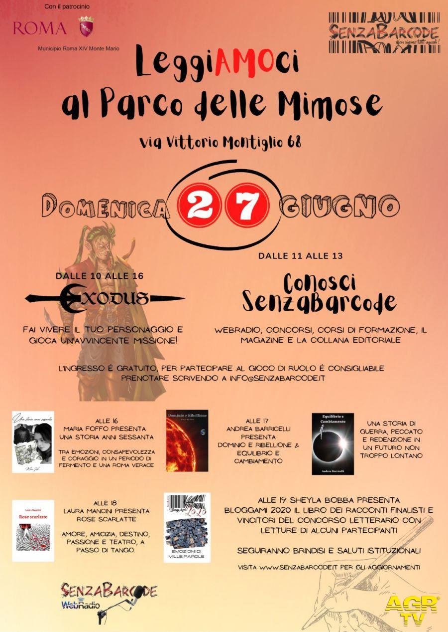 Giochi di ruolo, letteratura e cultura al Parco delle Mimose: il 27 Giugno arriva LeggiAMOci