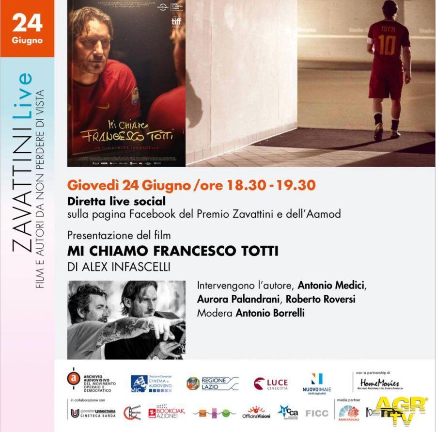 Mi chiamo Francesco Totti..... di Alex Infascelli sulle pagine facebook del Premio Zavattini