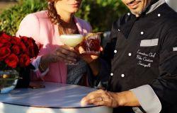 chef Niko Sinisgalli con Maria Rosito