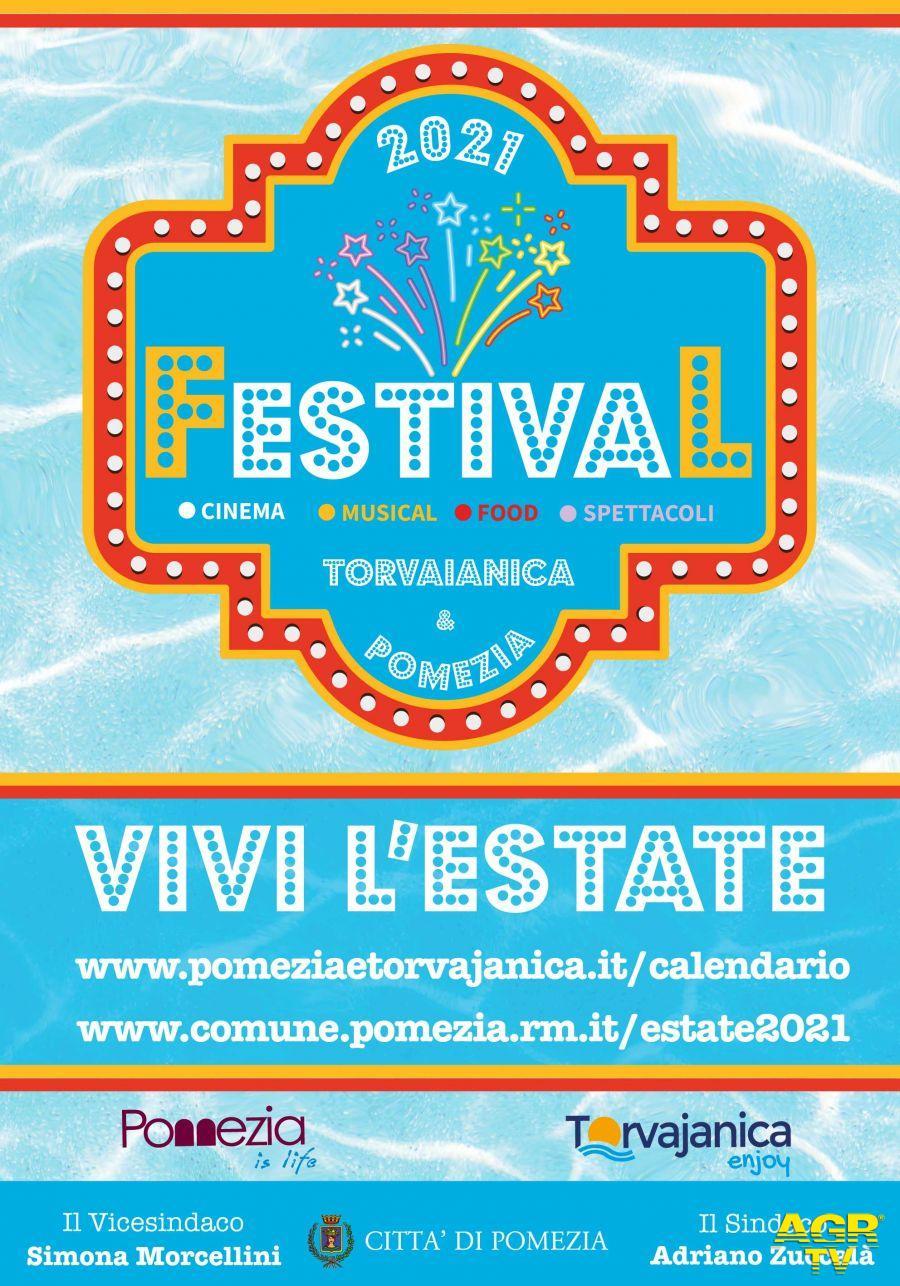 Manifesto estate festival 2021 pomezia e torvajanica locandina