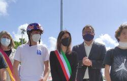 Paolo Ferrara con la sindaca Virginia Raggi