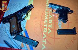 Roma. Sequestrate dalla Polizia di Stato  due pistole semiautomatiche detenute illegalmente.