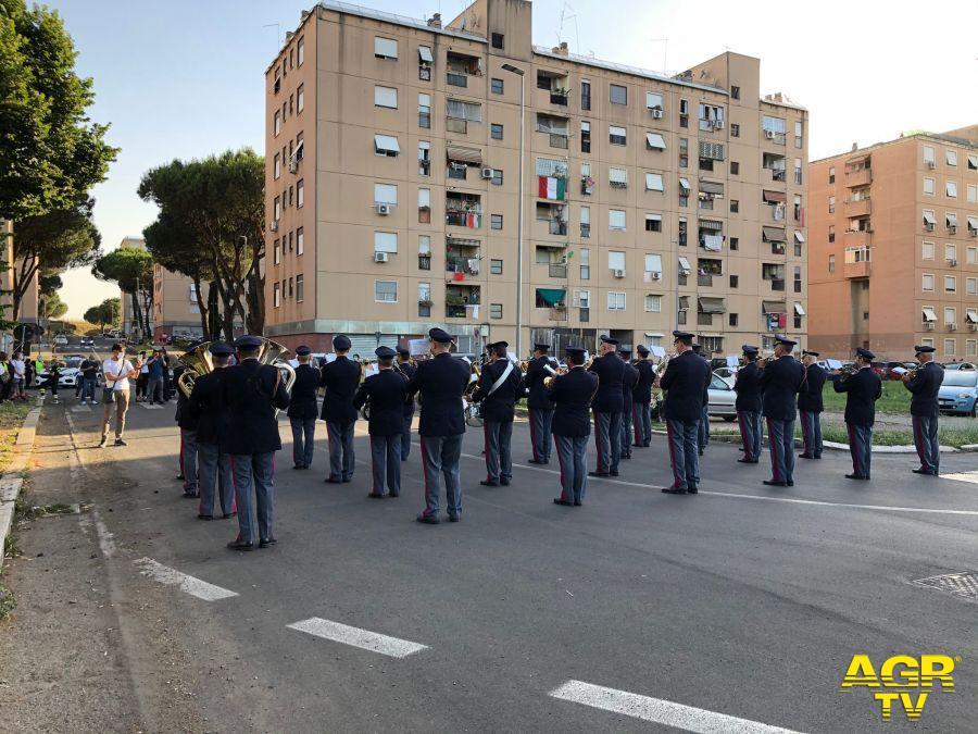 La Fanfara della Polizia di Stato suona a San Basilio