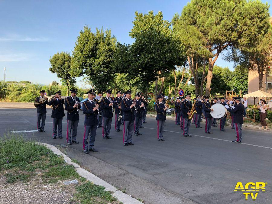 Spaccio Arte, La Fanfara della Polizia di Stato suona a San Basilio