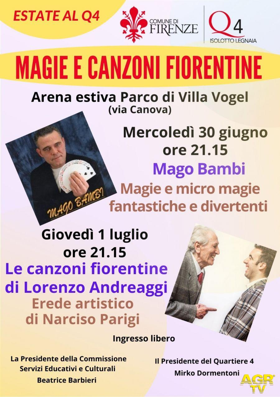 Firenze. Estate Q4 2021. Questa settimana 'Magie e canzoni fiorentine'