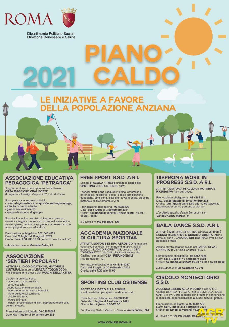 Locandina piano caldo 2021