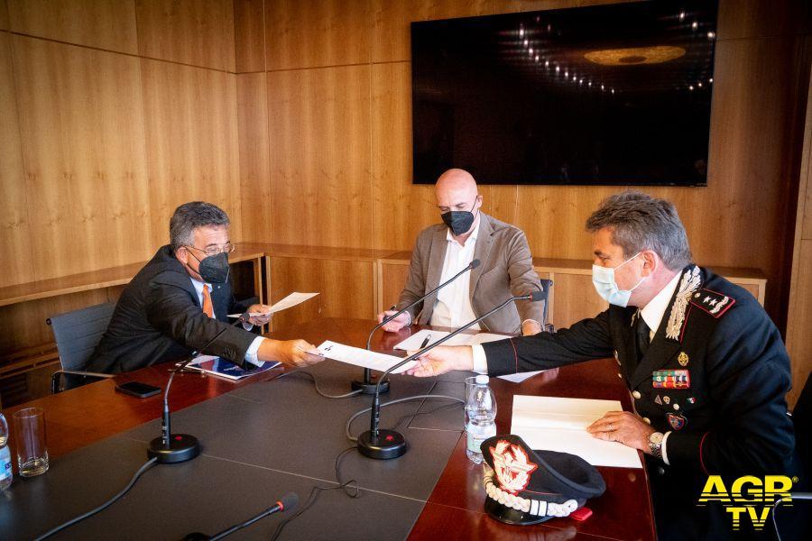Firma protocollo d'intesa tra Rai e Carabinieri