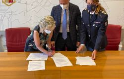Questura di Roma firma protocollo d'intesa Zeus