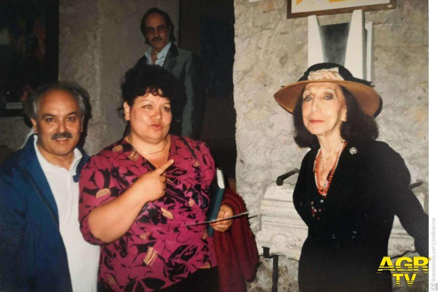 Iozzino con Maria Cumani (moglie di Quasimodo)