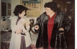 Iozzino con Ornella Viani, la figlia di Lorenzo