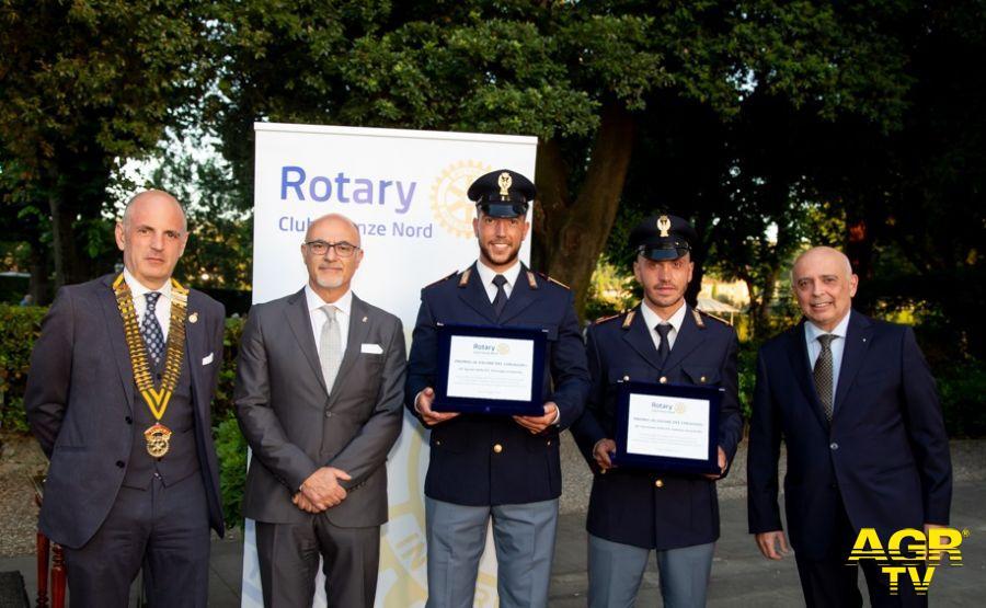 Questura di Firenze Due poliziotti della Questura di Firenze premiati dal Rotary