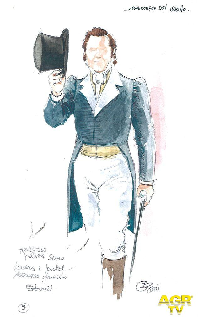 Gianna Gissi - Bozzetto costume ''Il Marchese del Grillo''