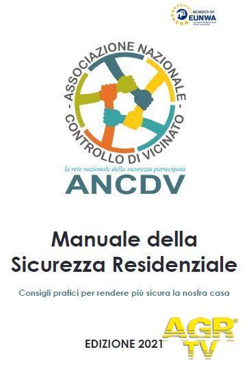 Manuale della  scurezza residenziale edizione 2021sarà distribuito alle famiglie del Controllo di Vicinato
