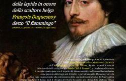 Livorno, Domenica 18 luglio alle ore 12.15 in via della Madonna, lo scoprimento di una lapide per il grande scultore François Duquesnoy