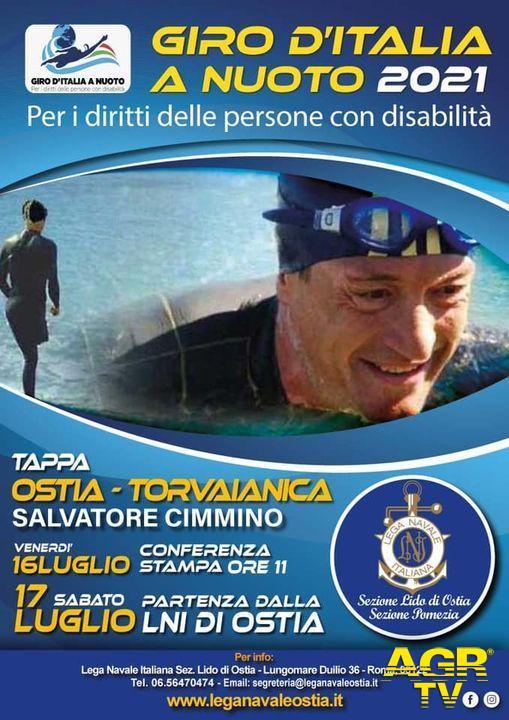 Da Ostia a Torvajanica a nuoto...per i diritti delle persone con disabilità