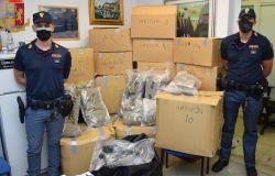 Blitz della polizia, sequestrati 120 kg. di droga, era nascosta in un deposito giudiziario