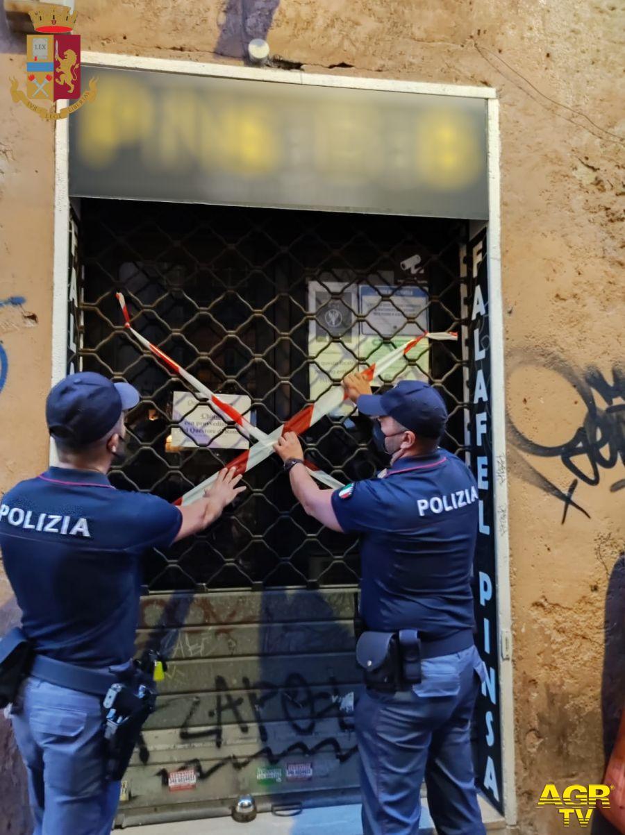 chiusura locale polizia