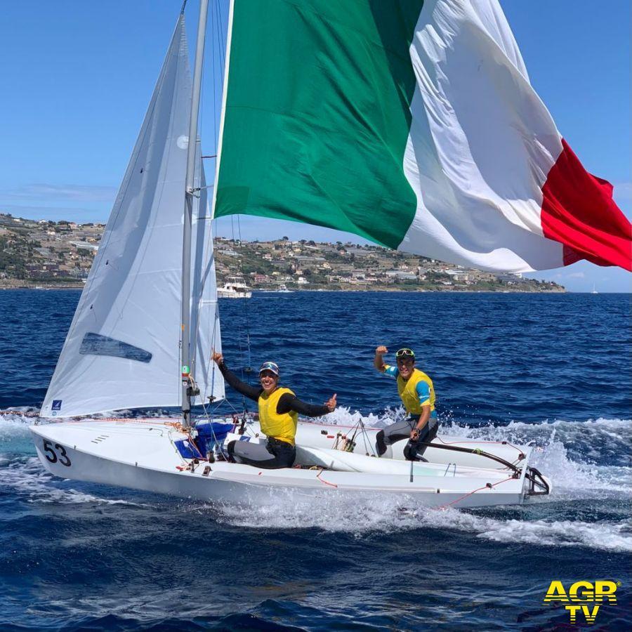 vela mondiale 470 Sanremo Marco Gradoni e Alessandra Dubini