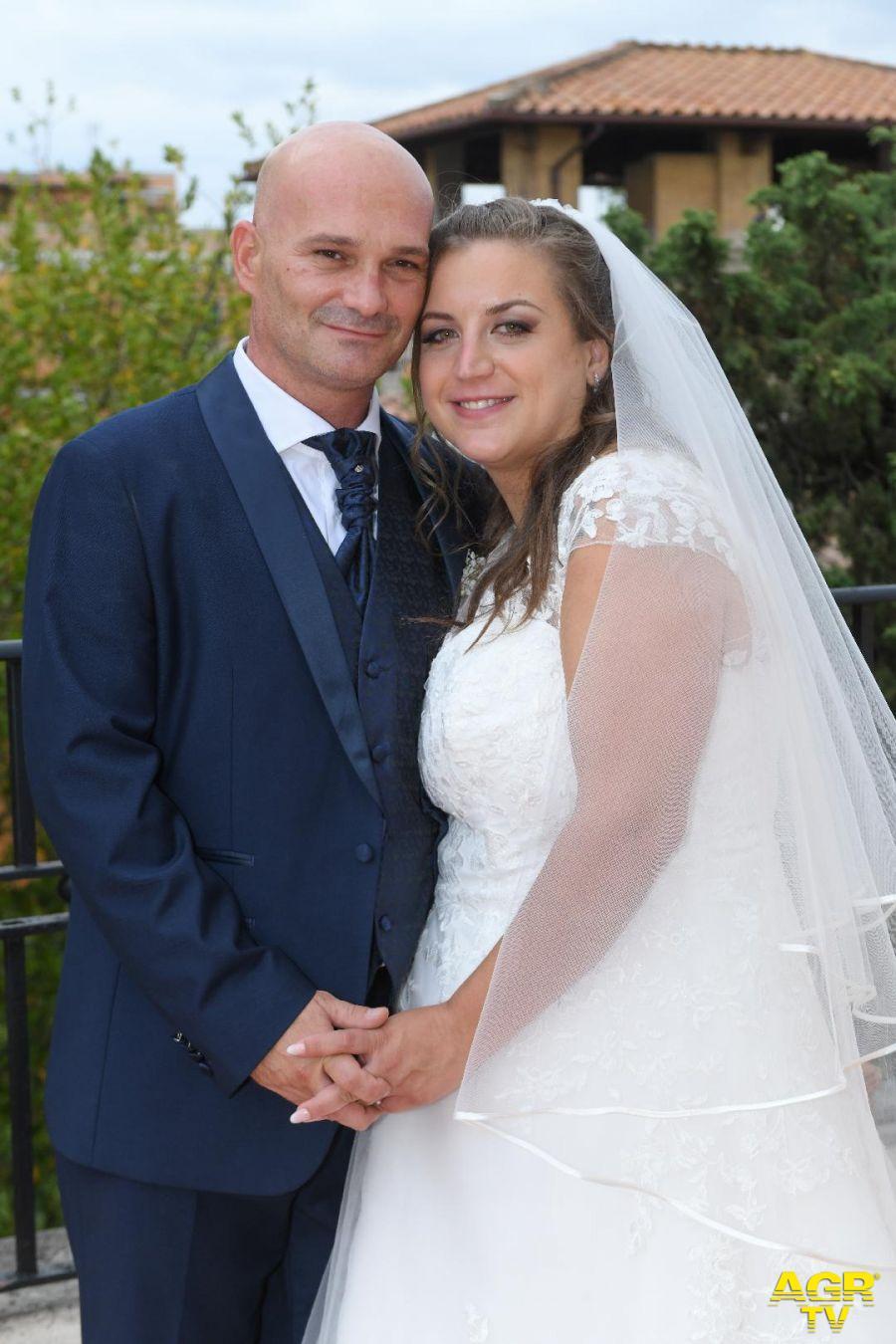 Alessandro e Federica il giorno delle nozze