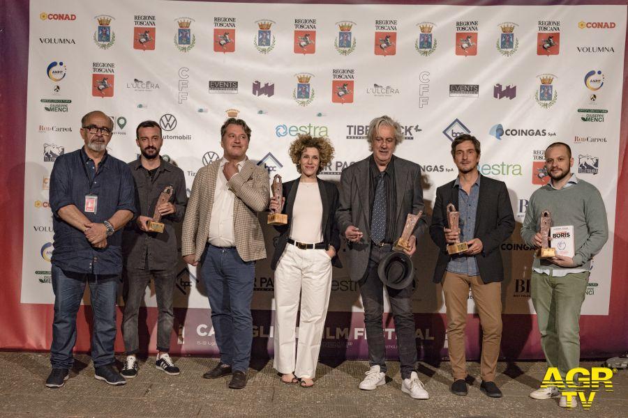 Romeo Conte , la squadra di ''Boris'', Cecilia Dazzi e l'Assessore Massimiliano Lachi