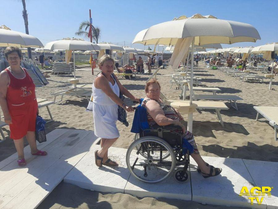 Focene spiaggia Stella Maris dei disabili