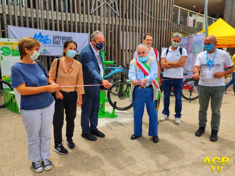 appennino bike tour presentazione ciclovia ad Amatrice