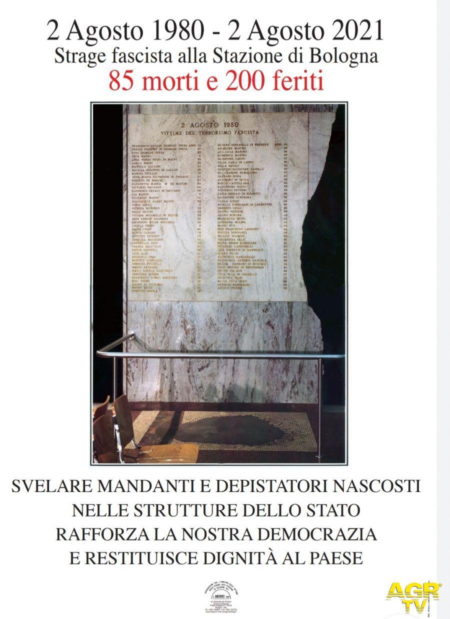 Gonfalone del Comune di Livorno alla commemorazione della strage di Bologna